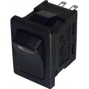 Intrerupator basculant SCI tip Rocker 10 A R13-66L-02 LED RED 12V/DC ON/OFF 250 V/AC 6 A