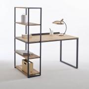 La Redoute Interieurs Schreibtisch-Bücherregal Metall und Eiche massiv, Hiba