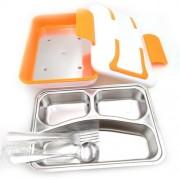Elektrický LUNCH BOX INOX 220V oranžový