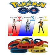 30 pcs Pokémon wristbands: 10 pcs team INSTINCT, 10 pcs team MYSTIC, 10 pcs team VALOR wristbands.
