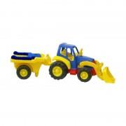 Tractor excavator cu remorca roaba Miniland