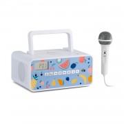 Auna Kidsbox Fruits, CD Boombox, CD плейър, bluetooth, FM, USB, LED дисплей, плодове, бял (KC-14_Kidsbox Fruits)