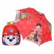 Paw Patrol MARSAL ghiozdan cu umbrela inclusa