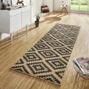 Hnědý moderní kusový koberec Basic - délka 400 cm a šířka 80 cm