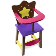 Star Bright Colorful Doll High Chair