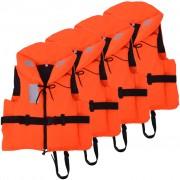 vidaXL 4 db mentőmellény 100 N 60-70 kg