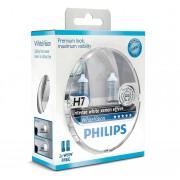 Becuri auto cu halogen pentru far Philips White Vision H7 12V 55W PX26D Kft Auto