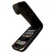 iPod Touch 2G, Touch 3G iGadgitz Flip Leren Hoesje - Zwart