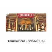Tournament Junior Chess Set (Foldable PVC Matt Chess Board)