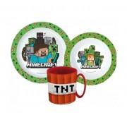 Minecraft étkészlet micro szett bögrével TNT