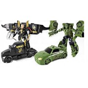 IndusBay Avenger Set of 2 SuperHero Hulk and Thor Autobots Transformers Car Deformation Avengers Action Figure Toy