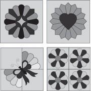 Marti Michell Plantillas de Patchwork perfectas, 4 Unidades