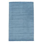 RugVista Alfombra Handloom fringes - Azul claro 140x200 Alfombra Moderna