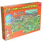 Jumbo puzzel Jan van Haasteren 3 in 1 voetbal (500+750+1000)