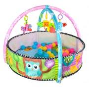 Set joc interactiv pentru bebelusi, tip piscina cu diverse jucarii incluse 90x60cm
