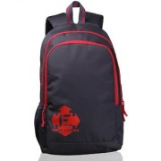 F Gear Castle 24 Liters Rugged Base Grey Red Backpack