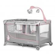 Kinderkraft prenosivi krevetac JOY Pink sa dodacima