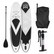 KLARFIT Spreestar Tabla hinchable para surf de remo Juego de tabla SUP 300x10x71cm negra blanca (FITN2-Spreestar)