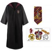 Harry Potter - Robe, Necktie & Tattoo Set Gryffindor