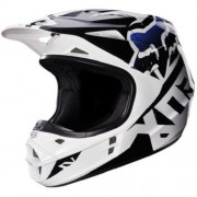FOX V1 Race Helmet #14401 Alb-Negru