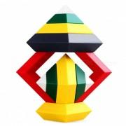MAIKOU juguete rombico del juguete del ladrillo del edificio de la historieta del ABS - multi-color (15 PC)