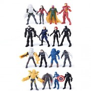 De-Lite Kidzel Super Hero Avengers Infinity Civil War Battle Scene Pocket Size Characters, Game Set (Mega Pack Of 16) (Multicolor)
