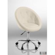 Elegáns guruló bárfotel, kozmetikus szék, fodrász szék, fehér