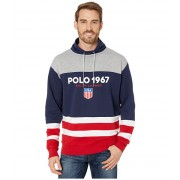 Polo Ralph Lauren Color Block Funnel Collar Sweatshirt Andover Heather Multi