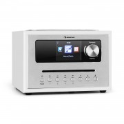 Auna Silver Star CD Cube, радио, bluetooth, HCC дисплей, бял (KC6-SilverCube CD-IR)