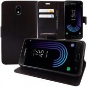Pour Samsung Galaxy J3 (2017) J330f/ J3 Pro (2017) : Etui Housse Coque Pochette Portefeuille Livre Support Video Cuir Pu - Noir