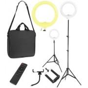 ISO 9630 Prstencová lampa se stativem a dálkovým ovládáním 30W