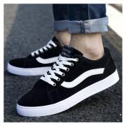 Zapatos De Lona De Hombres De Deportes De Ocio -Negro