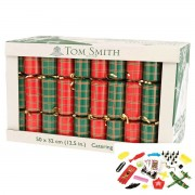 Tom Smith 50 x 12.5 Inch (32 cm) Red Green Christmas Crackers Catering Party