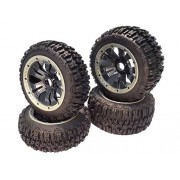 King Motor Buggy Pioneer Knobby Carbon Fiber Look Wheels (Set Of 4) Fits King Motor, Rovan And Hpi Baja Buggies
