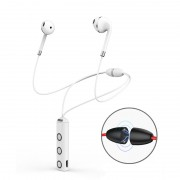 BT313 Magnetic Earbuds Sport Wireless Bluetooth HD Stereo Bass Headsets with Mic - White