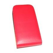 Кожен калъф Flip за Samsung S5300 Galaxy Pocket Червен