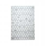Tapijt Florence ruiten - grijs - 200x290 cm - Leen Bakker