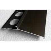 Profil aluminiowy balkonowy okapnikowy 85mm 2,5m brąz