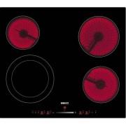 Plita incorporabila vitroceramica BEKO HIC64502T, Electrica, 4 zone, 60 cm, Neagra