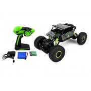 2.4G 4CH 4 Wheel Drive Rock Crawlers 4x4 Monster Driving Truck Double Motors Drive Off-Road Remote Control Climbing Rock Crawler Car (Green)