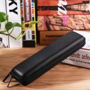 Para Apple Pencil / IPad Pro Portable Anti - Perdida De Cuero Con Cremallera Bolsa De Almacenamiento Touchpen Caja Protectora (negro)