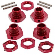 Losi Lst Xxl 2 E * 20mm Red Aluminum Wheel Hexes, 17 Mm Hex Nuts & Pins *