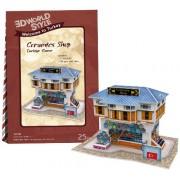 3D Puzzle 25piece 3D World Style Series Ceramic Shop W3111h