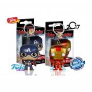 Laveros Capitan America Y Ironman Avengers Funko Pop Marvel