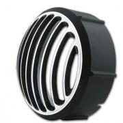 KROGGER Black Chrome Metal Headlight Tail Light Grill for Bullet Classic 350 500 (Set of 2)