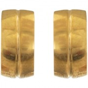 Solitare Unisex Gold Plated Stainless Steel Hoop Bali Studs Earrings For Men ( Fashion Jewellery)
