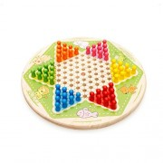 "Solid Wood 11.2"" Chinese Checkers by Darius"