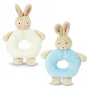 Bunnies By The Bay Bundle of 2 Rattles - Blue Bunny &White Bunny