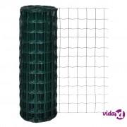 vidaXL Euro ograda 10 x 1,7 m čelična zelena