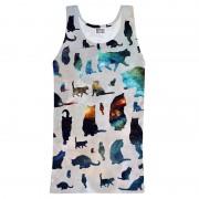 Mr. Gugu & Miss Go Galaxy Cat Tank Top T Shirt TT047
